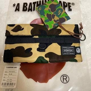 A BATHING APE - BAPE エイプ  APE PORTER コラボ 財布 ☆新品未使用☆