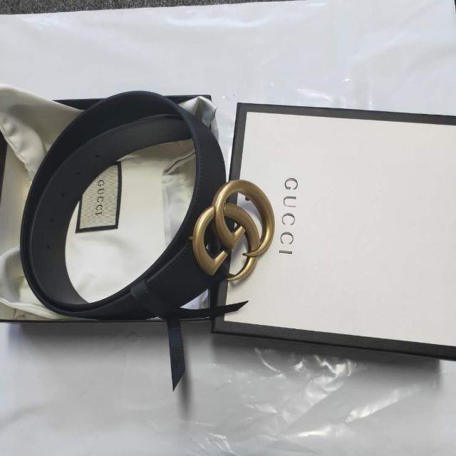 Gucci(グッチ)のGucci★GGバックル レザーベルト4cm幅 メンズのファッション小物(ベルト)の商品写真