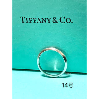 Tiffany & Co. - TIFFANY&Co. ティファニーリングPT 950 メンズ、レディース14号