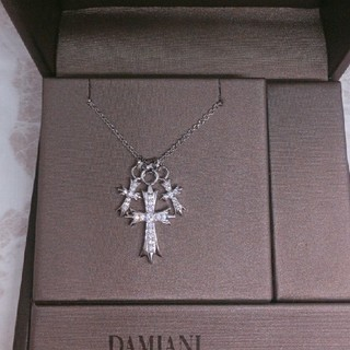 Damiani - シルバートリプルクロスネックレス✨有名人愛用