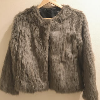 ジーナシス(JEANASIS)のJEANASIS ファー ショート コート(毛皮/ファーコート)