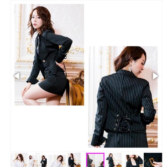 dazzy store(デイジーストア)の2ピースベルト付きストライプスーツ 新品 レディースのフォーマル/ドレス(スーツ)の商品写真