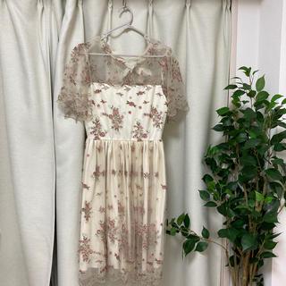 Lily Brown - リリーブラウン フラワー刺繍ワンピース