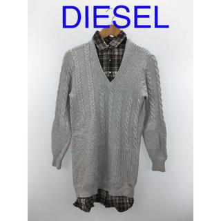 DIESEL - DIESEL コットンシャツニットワンピース