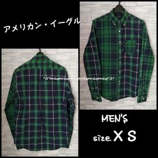 アメリカンイーグル(American Eagle)のアメリカン・イーグル 緑チェックシャツ(シャツ)