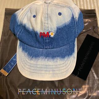 PEACEMINUSONE - peaceminusone デニムキャップ ブリーチ 正規品 新品