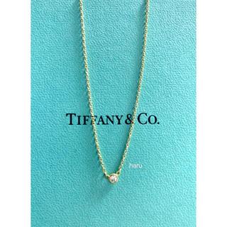 Tiffany & Co. - TIFFANY&Co.ティファニーバイザヤードネックレスK18YG 0.05ct