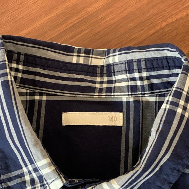 GU(ジーユー)のGU 長袖 チェックシャツ 140 キッズ/ベビー/マタニティのキッズ服男の子用(90cm~)(ブラウス)の商品写真