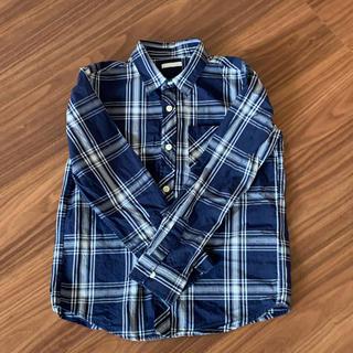 GU - GU 長袖 チェックシャツ 140