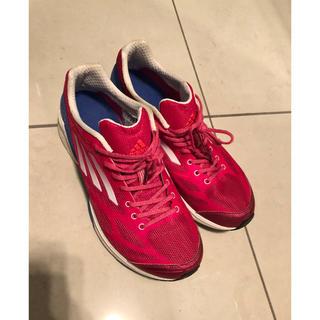 adidas - アディダス  スニーカー  24.0  ランニングシューズ  ピンク