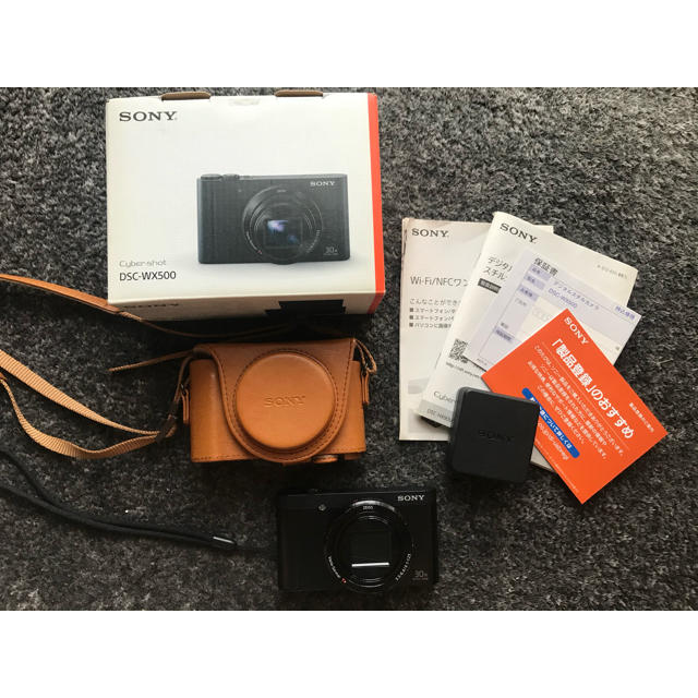 SONY(ソニー)のSONY DSC-WX500 ブラック スマホ/家電/カメラのカメラ(コンパクトデジタルカメラ)の商品写真