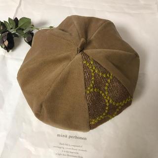 mina perhonen - ミナペルホネンベレー帽キャメルLサイズ