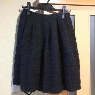 デザインワークス(DESIGNWORKS)のデザインワークス モヘアニット膝丈スカート(ひざ丈スカート)