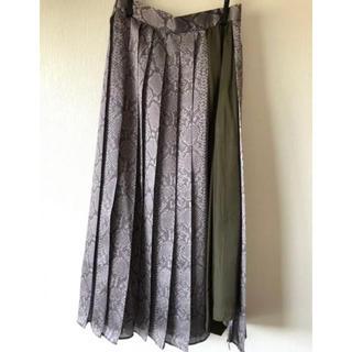 ローズバッド(ROSE BUD)の特価 新品タグ付 ROSEBUD パイソンプリーツスカート(ロングスカート)