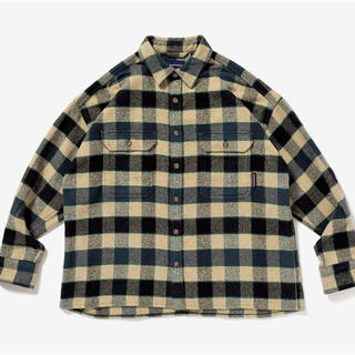 W)taps - 20AW DESCENDANT VANING CHECK LS SHIRT
