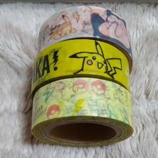 ポケモン(ポケモン)のポケモン マスキングテープ 3点セット(テープ/マスキングテープ)