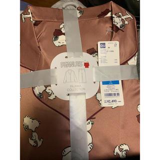 GU - ジーユー GU スヌーピー  パジャマ 寝巻 サテン
