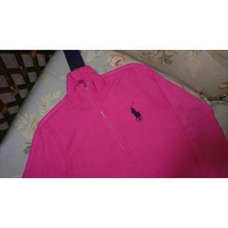 ラルフローレン(Ralph Lauren)の新品☆ラルフローレンゴルフ ジップアップセーター ピンク 9号(ウエア)