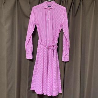 ポロラルフローレン(POLO RALPH LAUREN)のラルフローレン ストライプ ピンク(ひざ丈ワンピース)