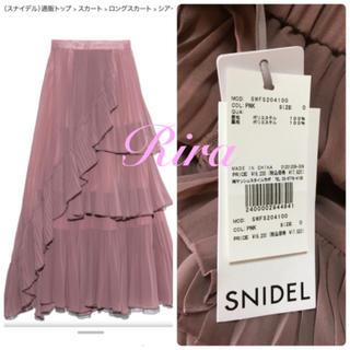 snidel - 完売🌷新作新品🍀スナイデル シアーボリュームプリーツスカート
