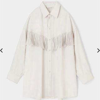 moussy - MOUSSY FRINGE OVER シャツ