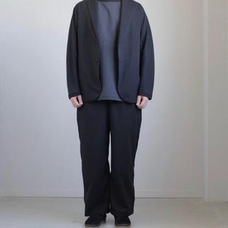 コモリ(COMOLI)のTEATORA Wallet Pants OOL NAVY  size 4(スラックス)