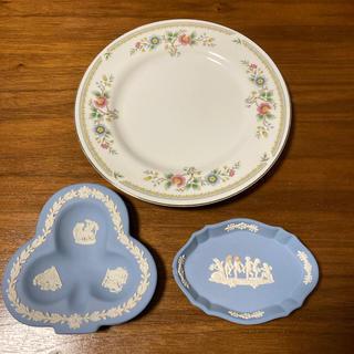 ウェッジウッド(WEDGWOOD)のウェッジウッド&Royal Crown トレイ お皿 クローバー ペールブルー (食器)
