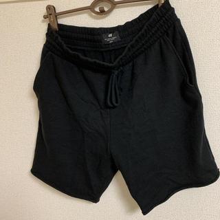エイチアンドエム(H&M)のH&M ハーフパンツ ショートパンツ ブラック スウェット(ショートパンツ)