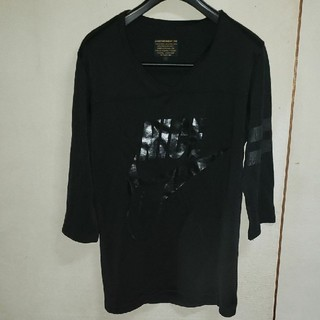 イズリール(IZREEL)のイズリールのレタリングvネック7分丈Tシャツ(Tシャツ/カットソー(七分/長袖))