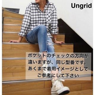 アングリッド(Ungrid)のUngrid フランネルシャツ ネイビー チェック(シャツ/ブラウス(長袖/七分))