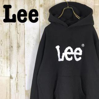 リー(Lee)のLee リー パーカー プルオーバー ビッグロゴ 裏起毛 ブラック(パーカー)