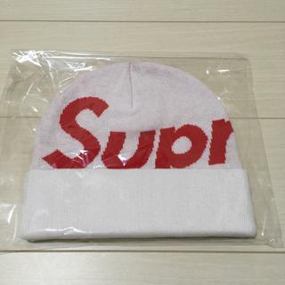 シュプリーム(Supreme)のSupreme Big Logo Beanie 白 シュプリーム ビーニー(ニット帽/ビーニー)