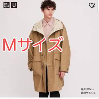 ユニクロ(UNIQLO)のユニクロU フーデッドコート ブラウン Mサイズ(その他)