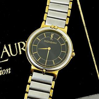 Saint Laurent - 美品 サンローラン YSL 腕時計 電池新品 レディース ブラック文字盤