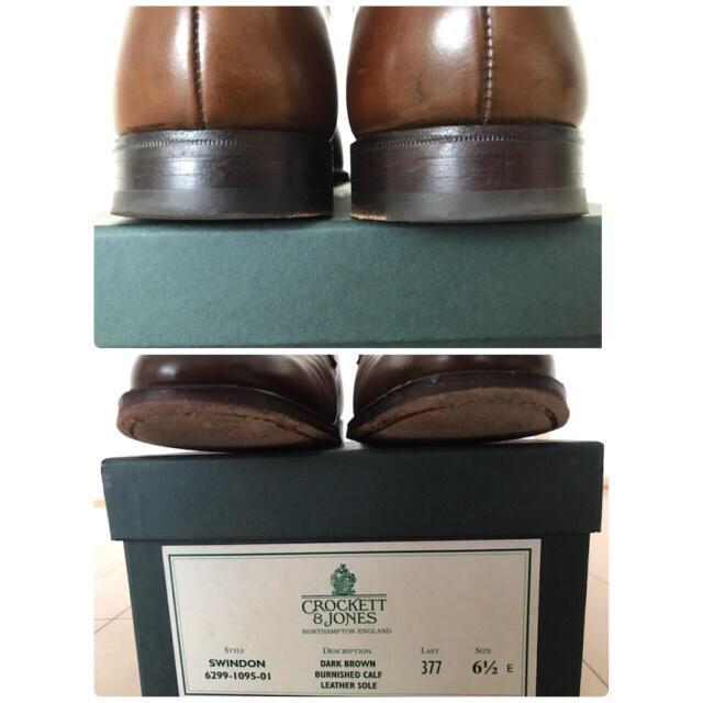Crockett&Jones(クロケットアンドジョーンズ)のcrockett&jones クロケット&ジョーンズ SWINDON 6.5  メンズの靴/シューズ(ドレス/ビジネス)の商品写真