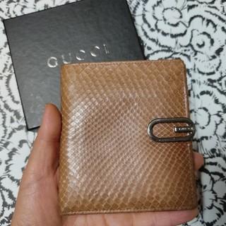Gucci - 12万円(新品時の参考価格)GUCCI 折財布 ヘビ