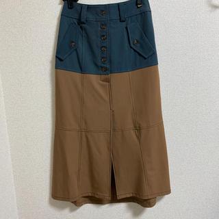 レディアゼル(REDYAZEL)の配色ステッチバイカラーAラインスカート REDYAZEL レディアゼル(ロングスカート)