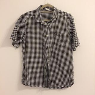 ジーユー(GU)のGU♡ギンガムチェックシャツ(シャツ/ブラウス(半袖/袖なし))