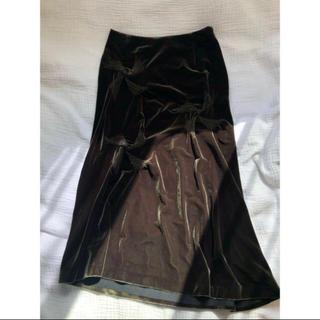 ビームス(BEAMS)のTABASA スカート 深緑(ひざ丈スカート)