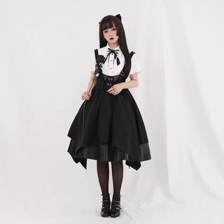 アンジェリックプリティー(Angelic Pretty)のゴシックロリータ やみかわ  蝶々 スカート(ひざ丈スカート)