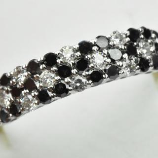 K18WG ブラックダイヤモンド 0.50ct 12号 指輪