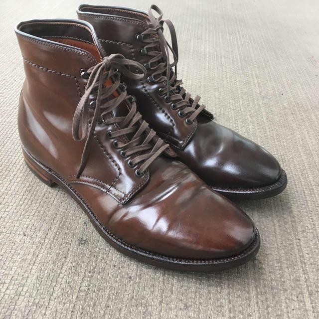 Alden(オールデン)のオールデン シガー ブーツ プレーントゥ マンソンブーツ 7D レアカラー メンズの靴/シューズ(ドレス/ビジネス)の商品写真