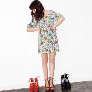 スライ(SLY)のレディース服 花柄 ワンピース  BLEED FLOWER オフショルOP(ミニワンピース)