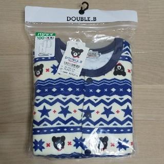 ダブルビー(DOUBLE.B)のミキハウス DOUBLE_B  新品  キルトパジャマ 男の子 サイズ110(パジャマ)
