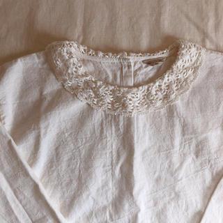 SM2 - SM2のリネン混のレース襟が可愛い長袖ブラウス