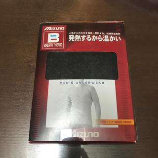 ミズノ(MIZUNO)のミズノ アンダーウェア ブレスサーモ 中厚 クールネック長袖シャツ サイズLL(アンダーシャツ/防寒インナー)