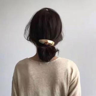 イエナ(IENA)のslim oval barrette-gold-(バレッタ/ヘアクリップ)