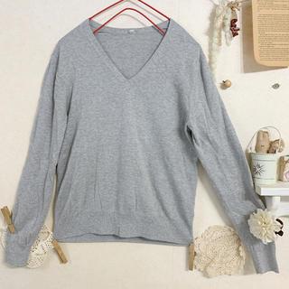 ムジルシリョウヒン(MUJI (無印良品))の☆ 無印良品 シルク混 コットンVネックニット セーター(ニット/セーター)
