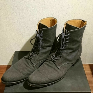ラッドミュージシャン(LAD MUSICIAN)のLAD MUSICIAN ブーツ キャンバス グレー(ブーツ)