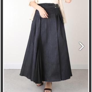 ランダ(RANDA)のRANDA プリーツデザインコットンスカート(ロングスカート)